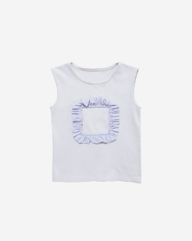 frill point T-shirt